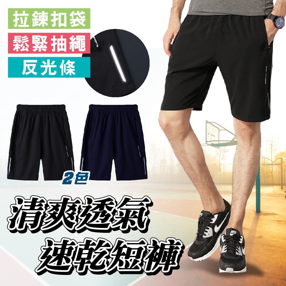 【NEW FORCE】清爽透氣速乾健身短褲-2色可選 0