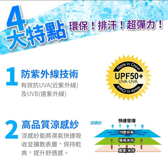 Smart Mall◆涼感萊卡袖套防曬UPF50吸濕排汗自行車路跑登山臂套 3