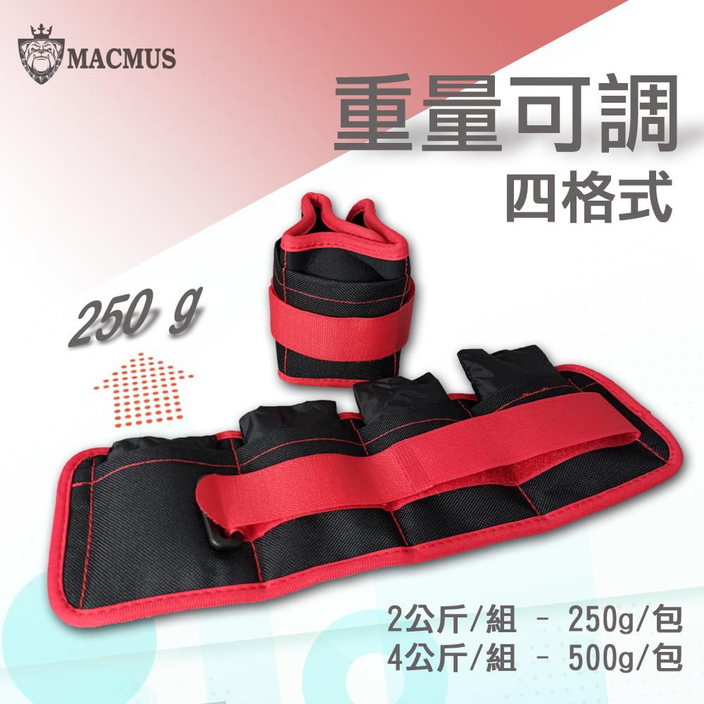 【MACMUS】2公斤重量可調整運動沙包 四格式重量可調負重沙袋 單邊1公斤復健沙包 2