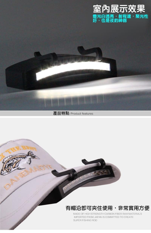 11顆LED帽沿燈 2