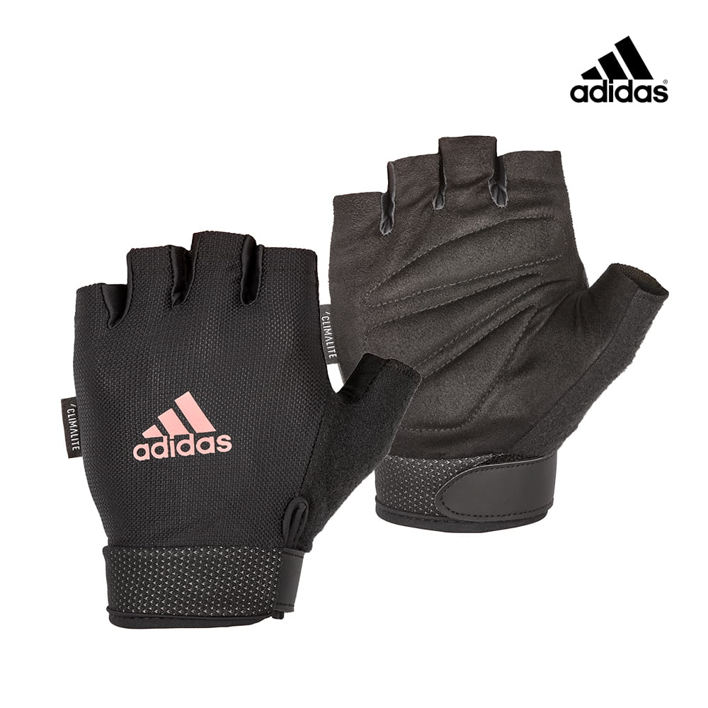 可調式透氣短指訓練手套(粉)