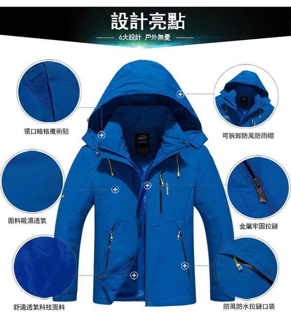 男女戶外機能防風防水衝鋒外套 6