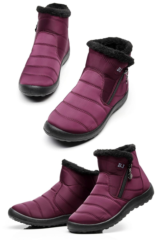 防水保暖防滑厚毛絨雪靴(36-42碼/3色可選) 15