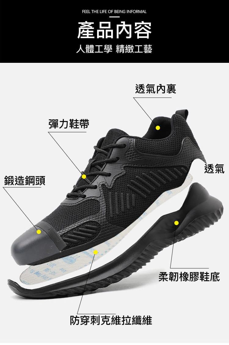 黑凱薩機能鋼鐵鞋 12