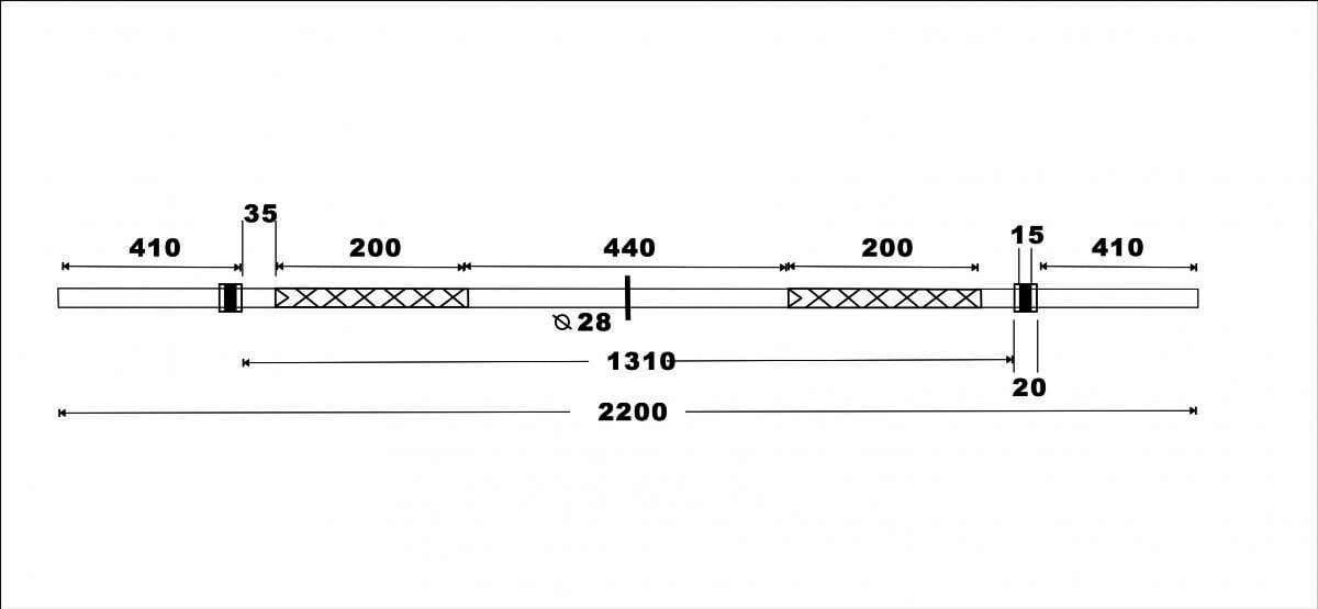【GOOD SHINE】 奧林匹克槓 長度220CM 直徑5CM 重量20KG 6