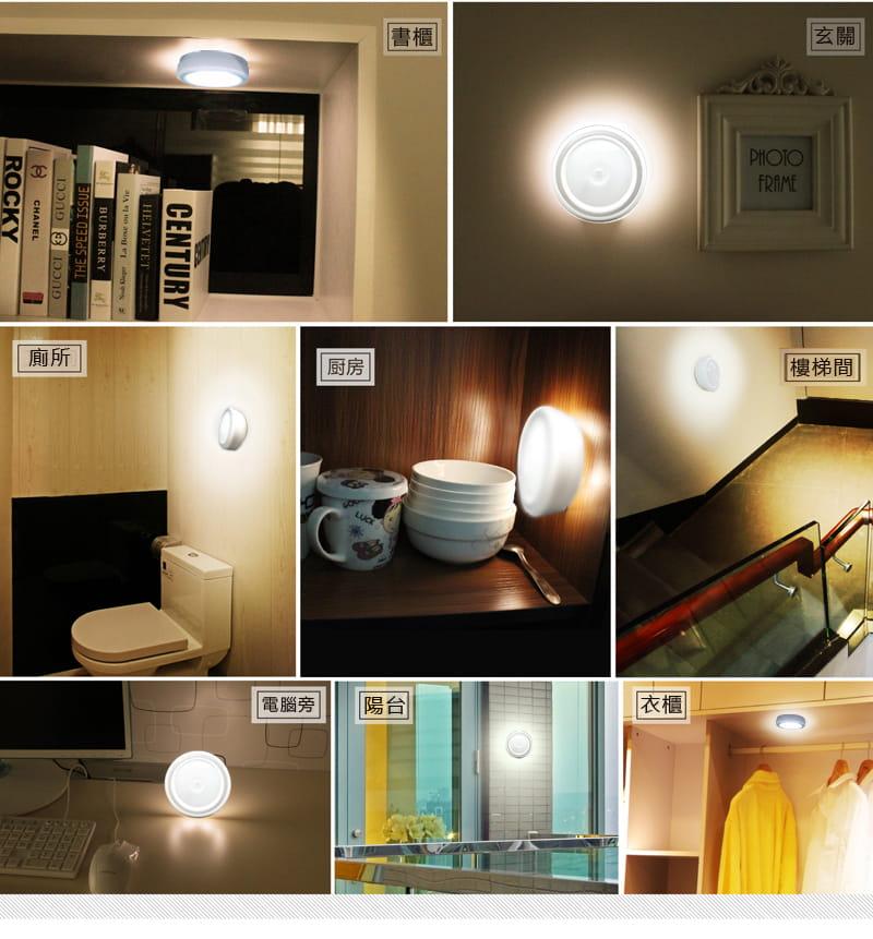 360度磁吸LED紅外線人體感應燈(暖白光) 1