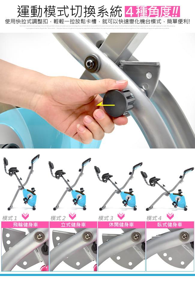 【SAN SPORTS】四角度飛輪式磁控健身車(超大座椅+椅背) 11