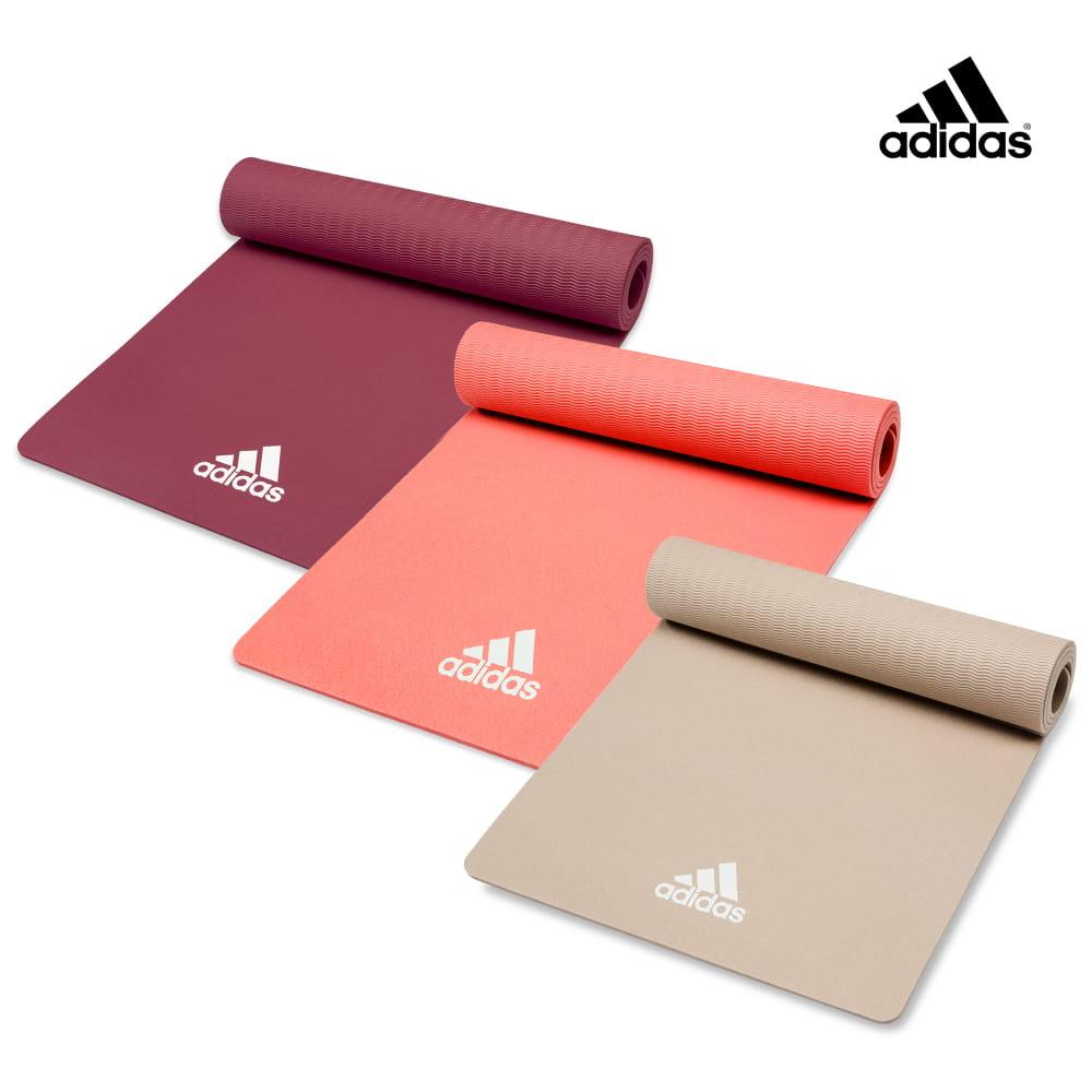 【adidas】輕量波紋瑜珈墊-8mm(共二色) 0