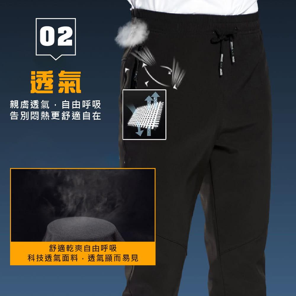 【NEW FORCE】保暖彈力抗刮抗皺衝鋒褲-男女款 3