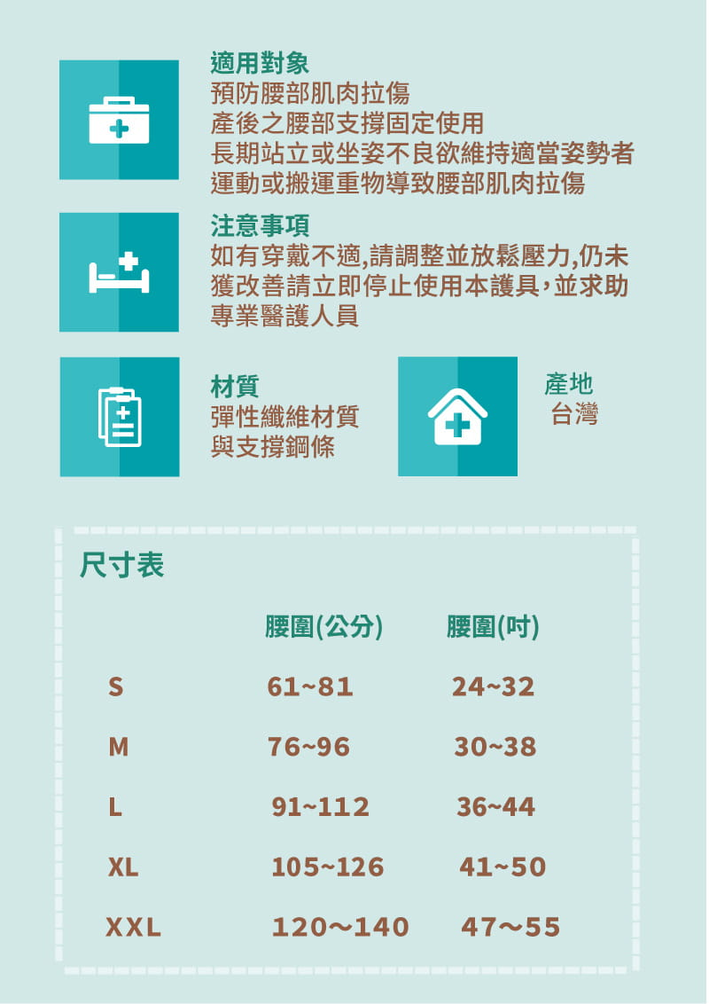 【居家醫療護具】【THC】健康透氣軟背架-H3327(護腰) 4