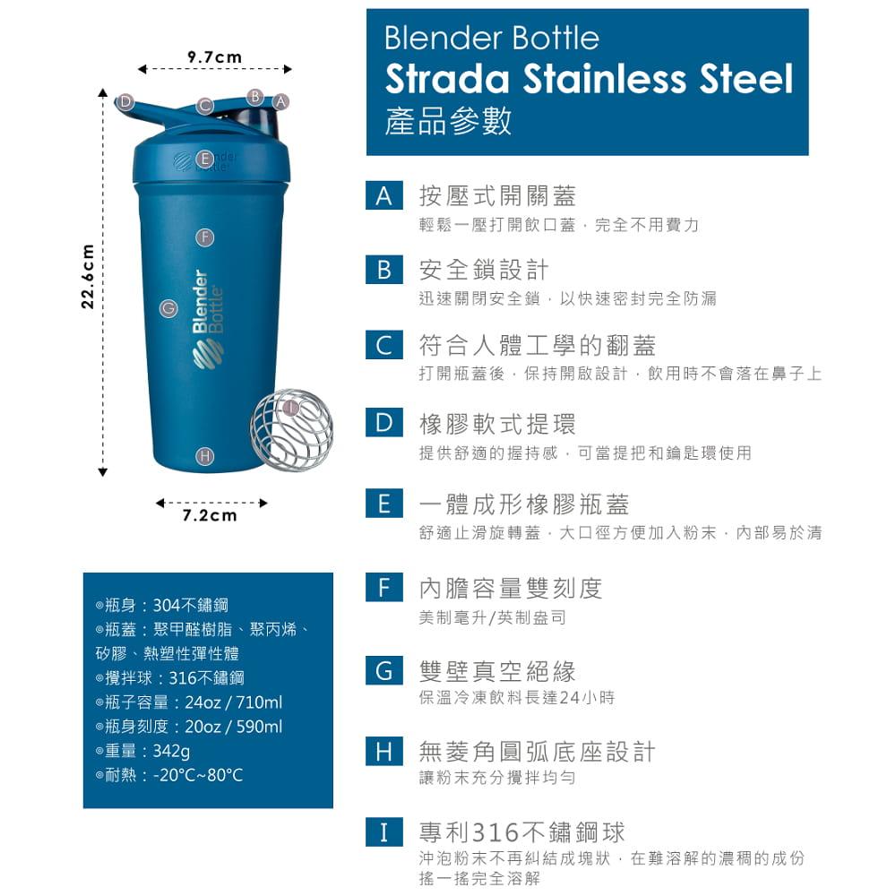 【Blender Bottle】Strada系列|雙層不鏽鋼|卓越搖搖杯|24oz|5色 11