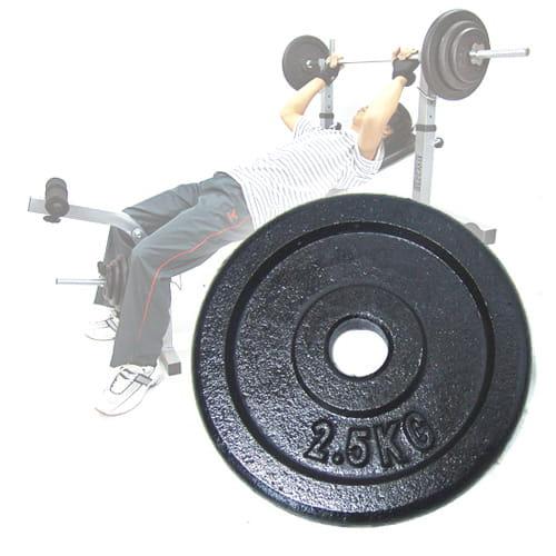 2.5KG傳統鑄鐵槓片(兩入=5KG) (2.5公斤槓片.槓鈴片.啞鈴片) 0