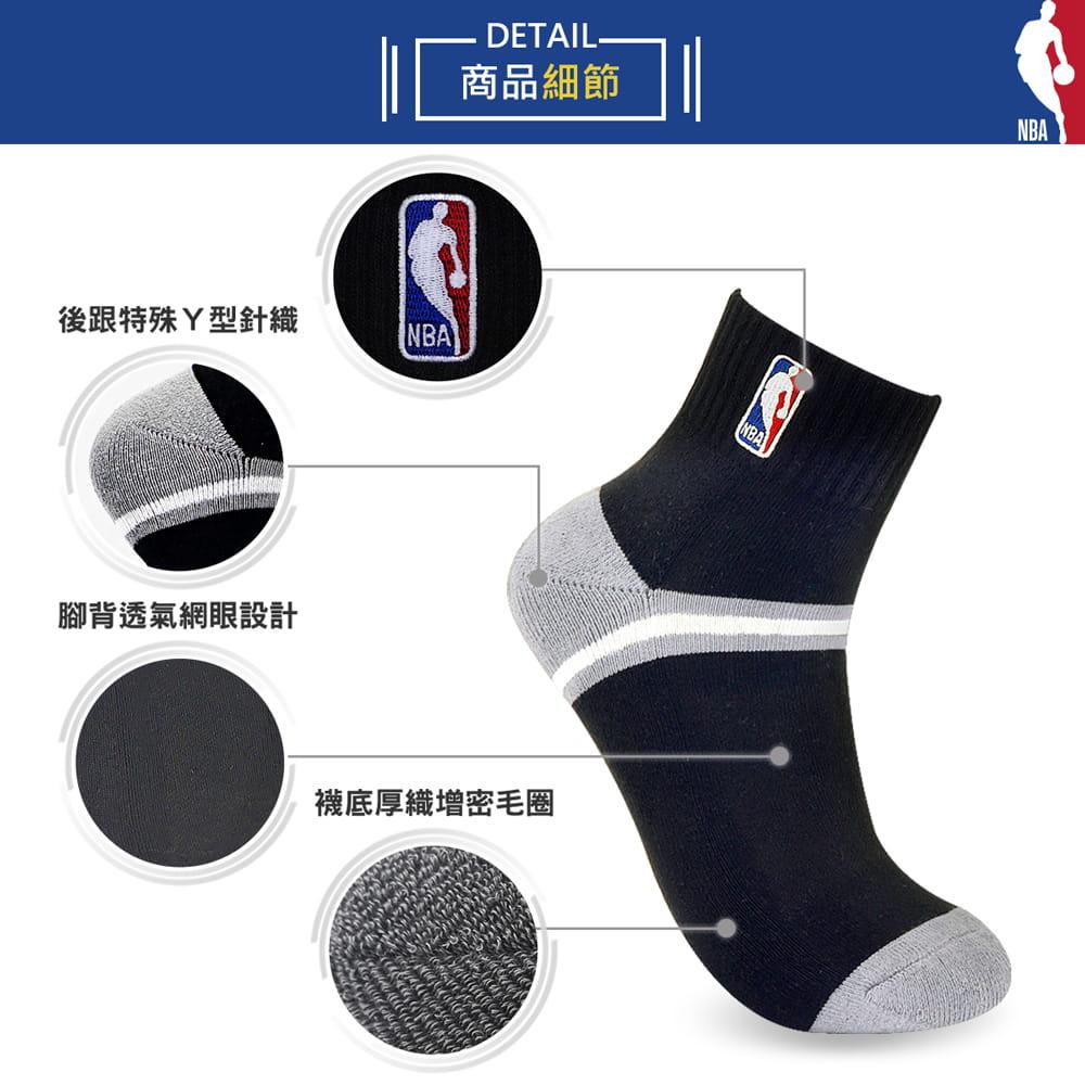【NBA】 經典刺繡束腳底網眼毛圈短襪 8
