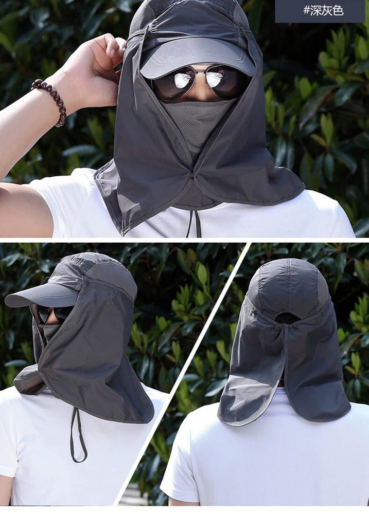 UPF50+抗UV高防曬速乾護頸遮陽帽 2