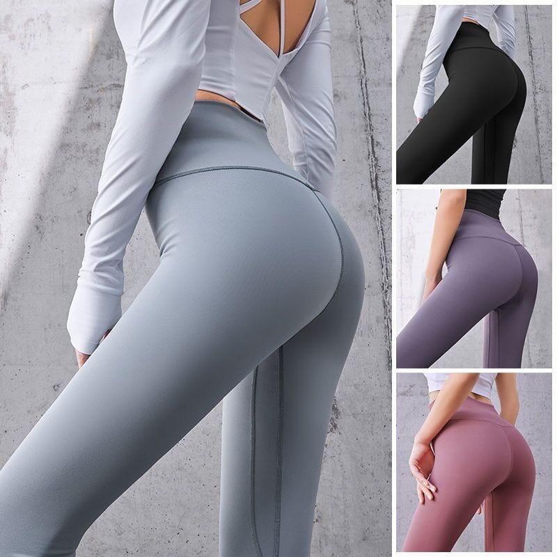 【健身神器】性感高腰蜜桃裸感健身壓力褲 瑜珈褲 重訓褲 運動褲 健身褲 3