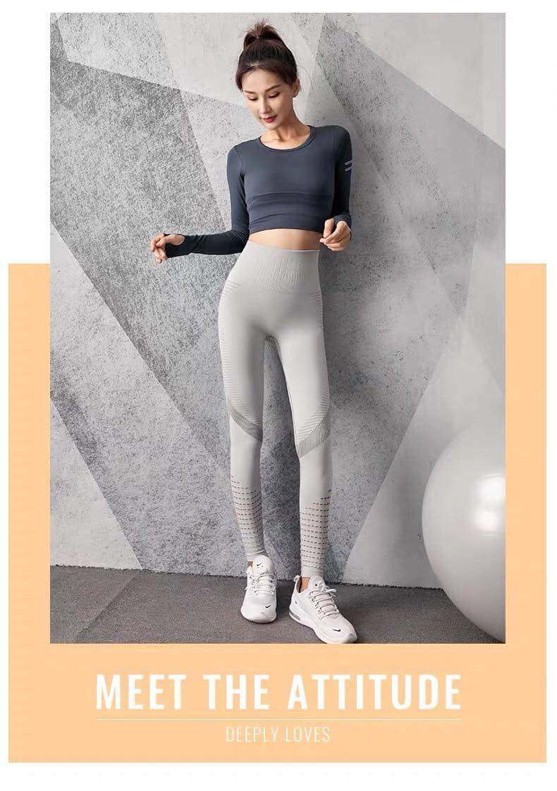 運動長褲無縫大尺碼S-XL韻律有氧跑步瑜珈-KOI 10