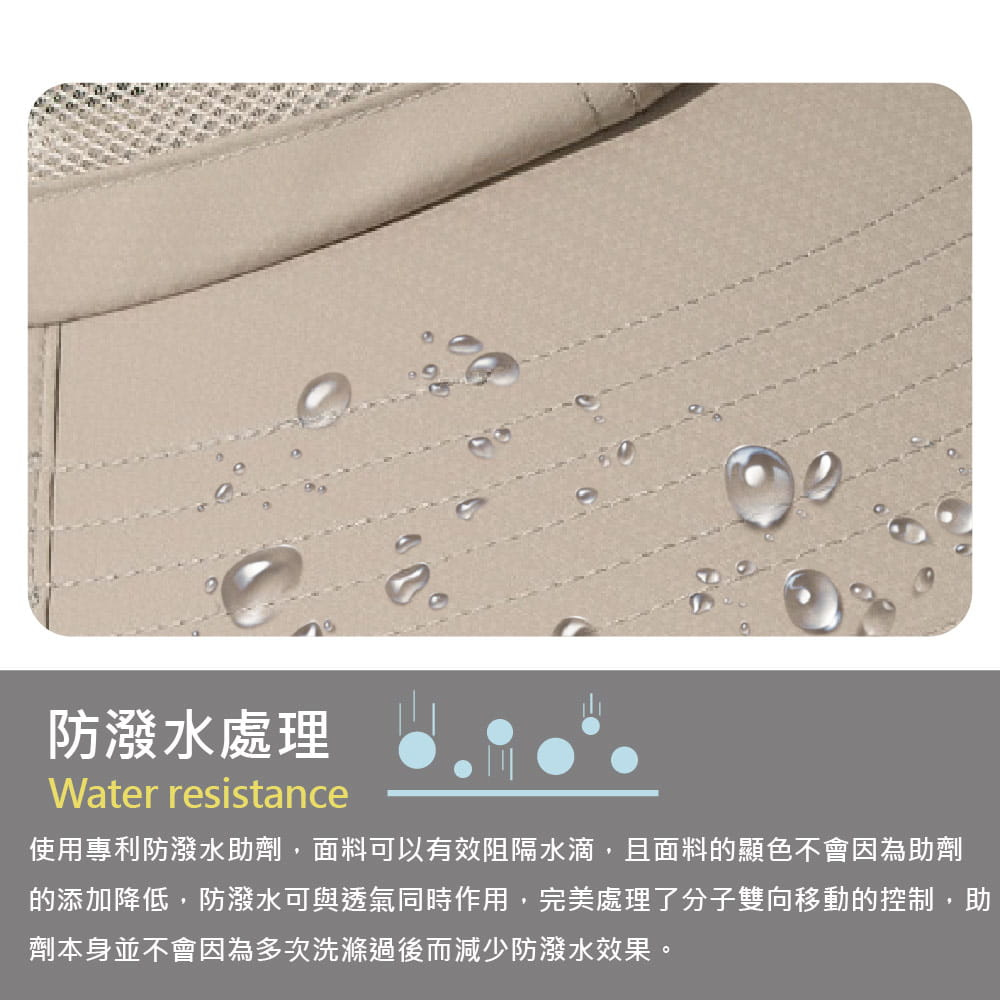 【Peilou】UPF50+多功能休閒遮陽帽-男女款 18