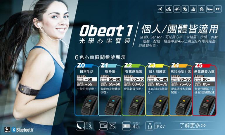 【ATTACUS】Obeat1 光學心率臂帶 1