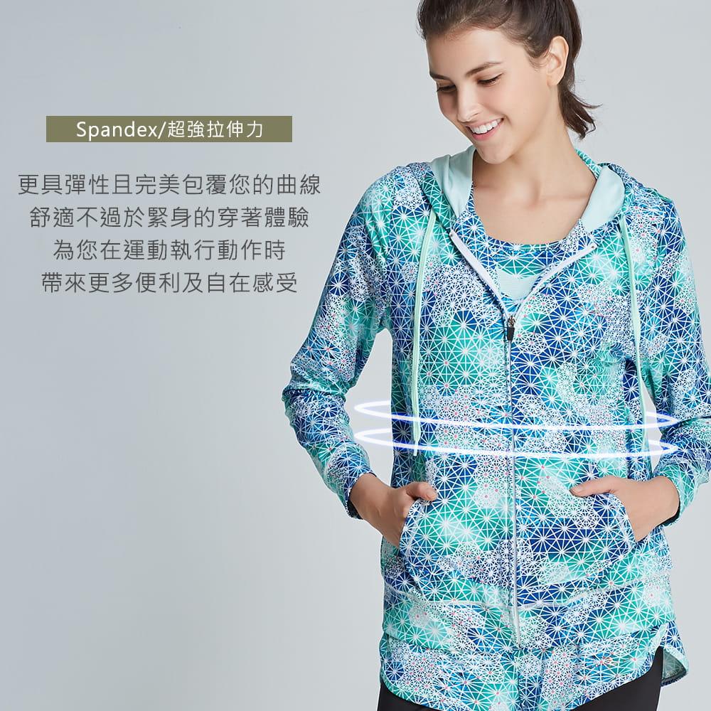 【yulab】(台灣製)女彈性數位印花連帽外套-2色可選 4