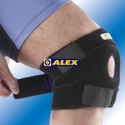 【ALEX】 T-20中長型護膝 跑步 慢跑 馬拉松 羽毛球 騎車 三鐵各種運動適用 台灣製造 0