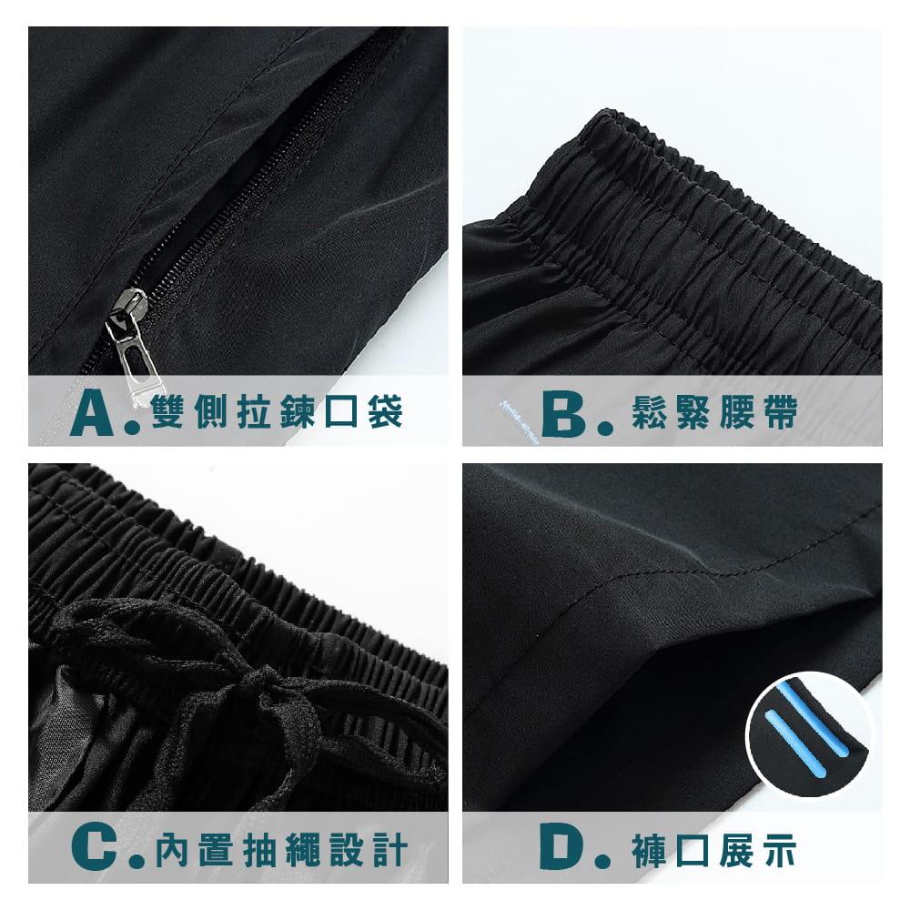 【NEW FORCE】彈性修身鬆緊腰帶男短褲-2色可選 4