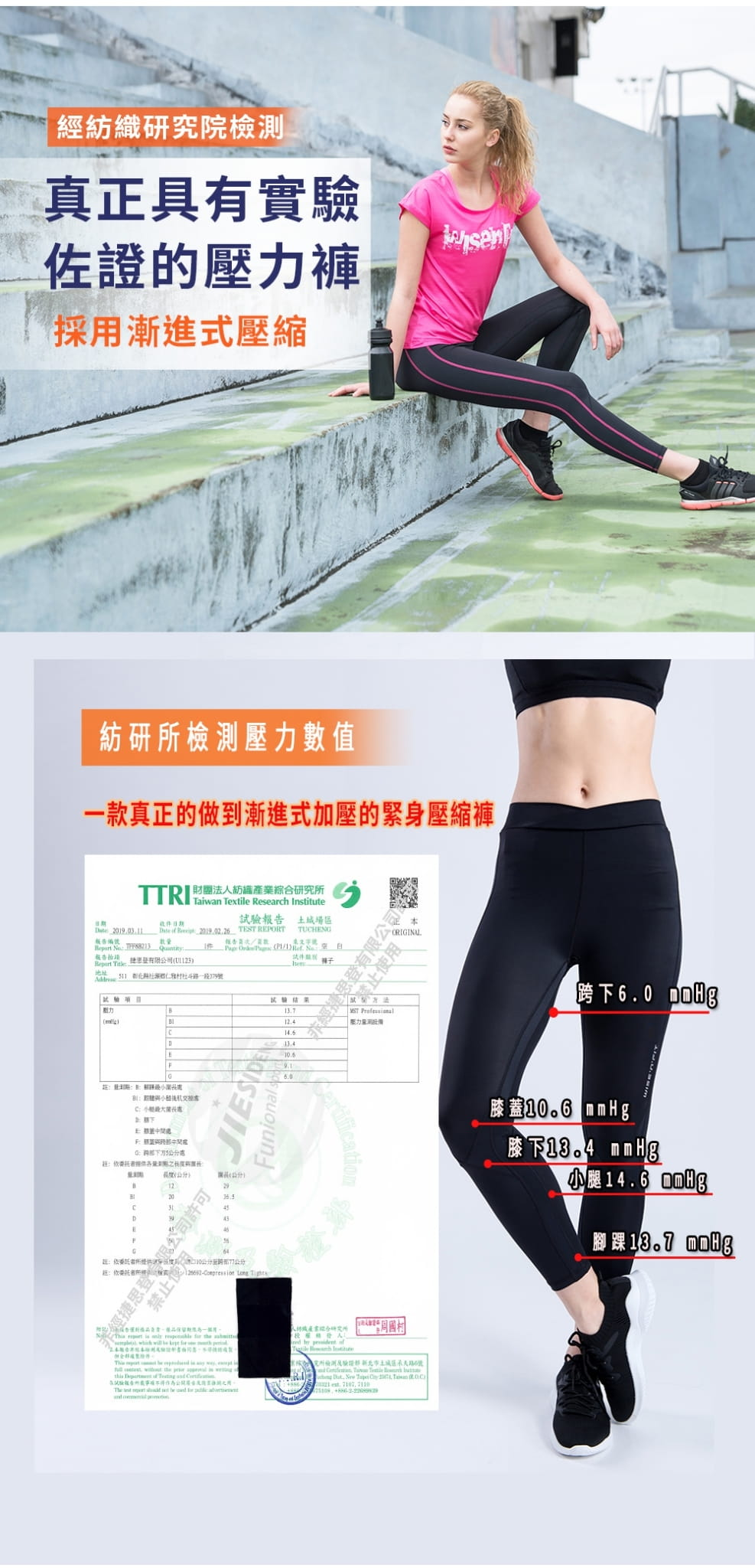 【WISENFIT】台灣製- 塑身訓練壓力褲 6