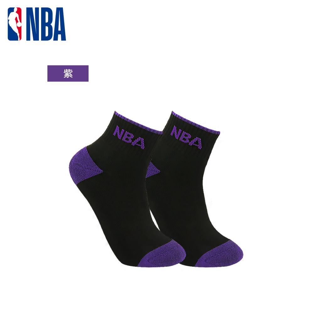【NBA】運動休閒緹花毛圈短襪 2