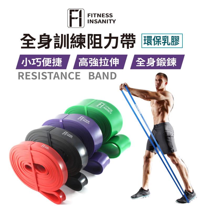 【FitnessInsanity】多功能環狀彈力帶 阻力带4件組 1