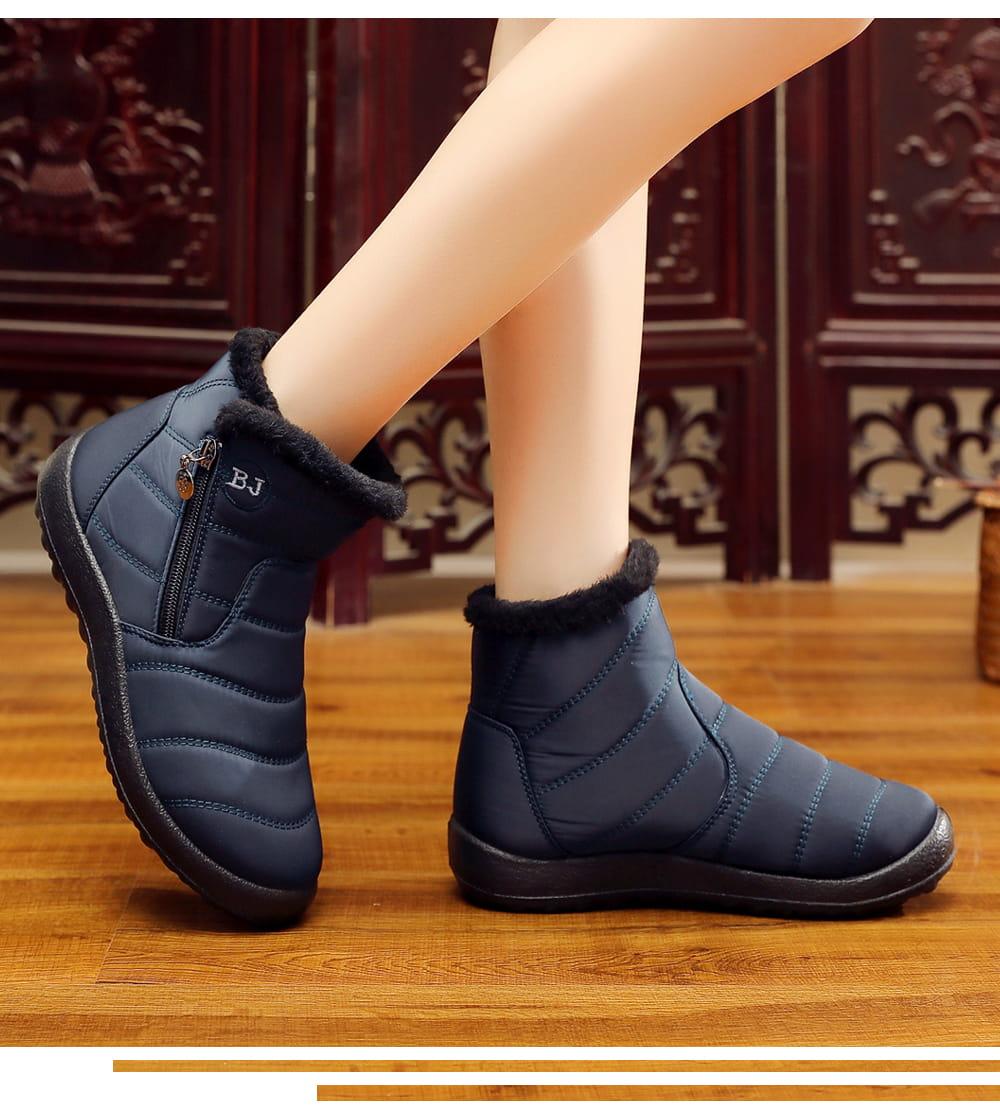 防水保暖防滑厚毛絨雪靴(36-42碼/3色可選) 10