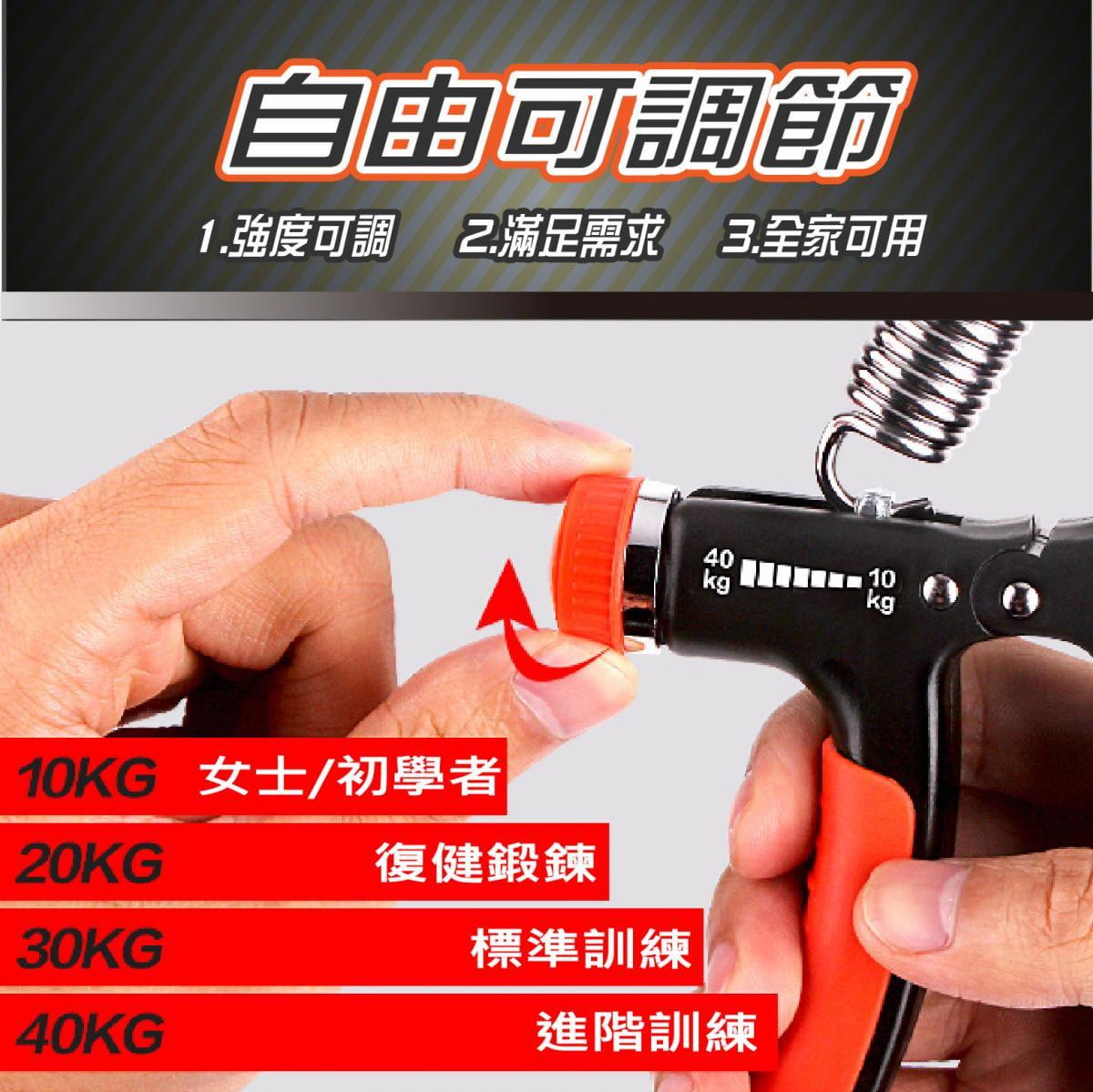 可調節式 握力器10~40KG 握力 腕力 握力訓練器 手腕訓練 腕力器 健身器材 紓壓 增肌 1