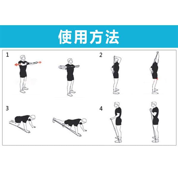 瑜珈八字繩 8字拉力器 瑜伽拉力繩 彈力拉力繩 擴胸 塑胸器 家用健身器材【SV6395】 1