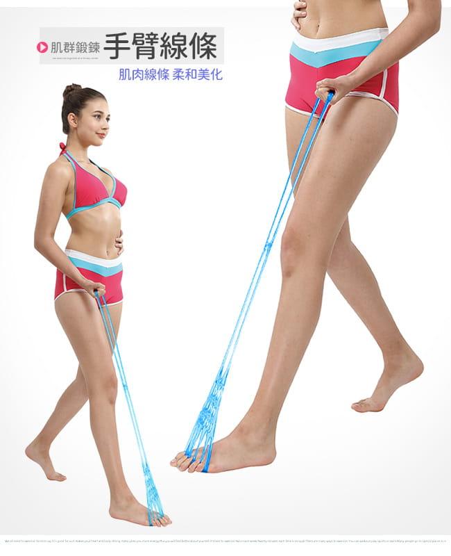 台灣製造!!五指型QQ果凍拉力繩   果凍繩彈力繩 7