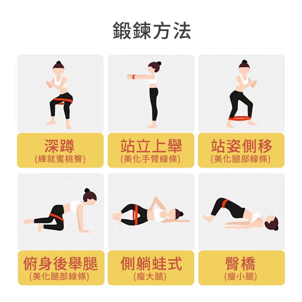 【NORDITION】迷你環狀彈力圈組◆台灣製 拉力圈 瘦腿提臀拉力環 健身房 瑜珈 訓練 阻力帶 TRX 多功能 拉筋 7