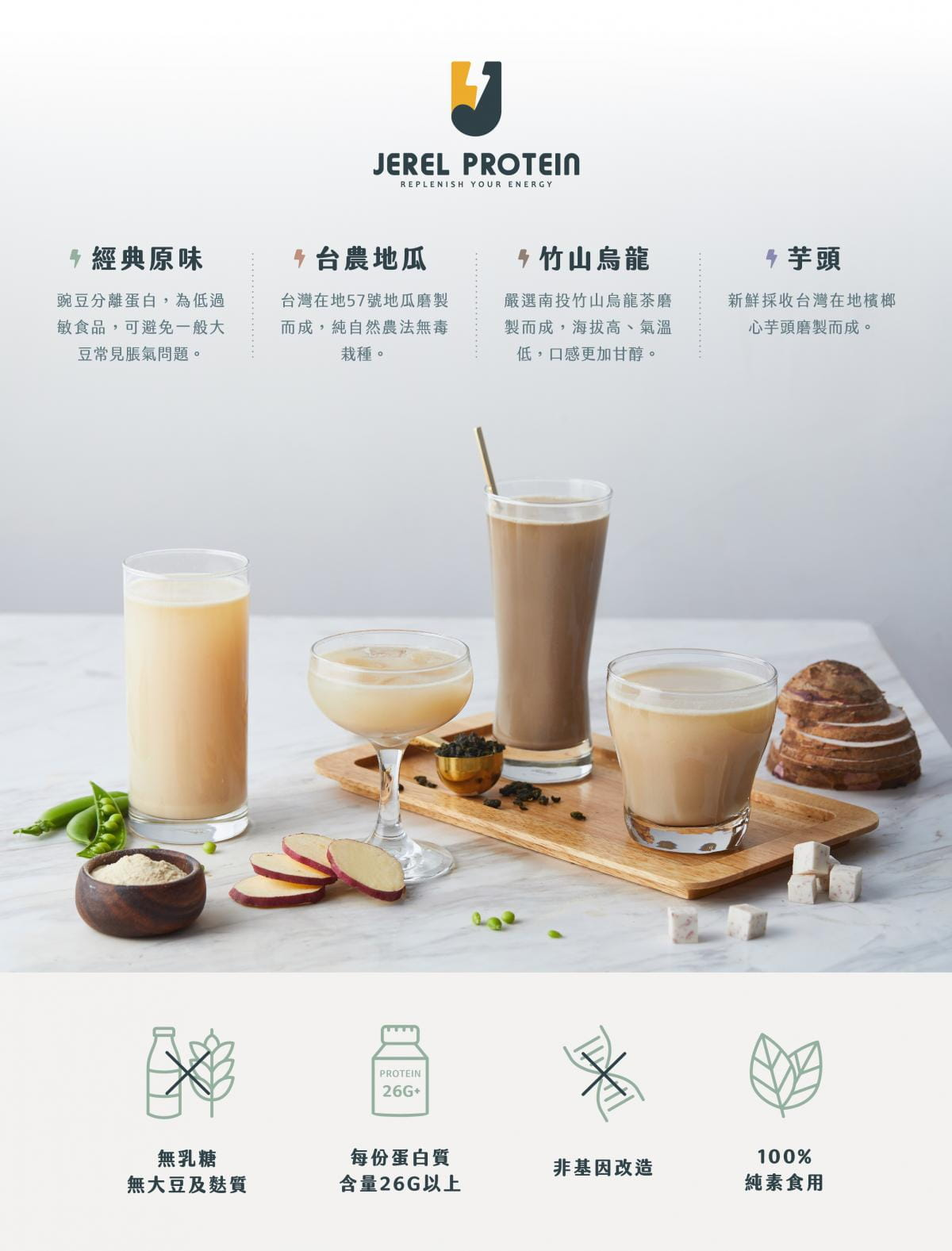 【Jerel Protein 捷銳蛋白】【Jerel Protein】捷銳蛋白-植物性豌豆分離蛋白 15包/盒 (35g*15) 1