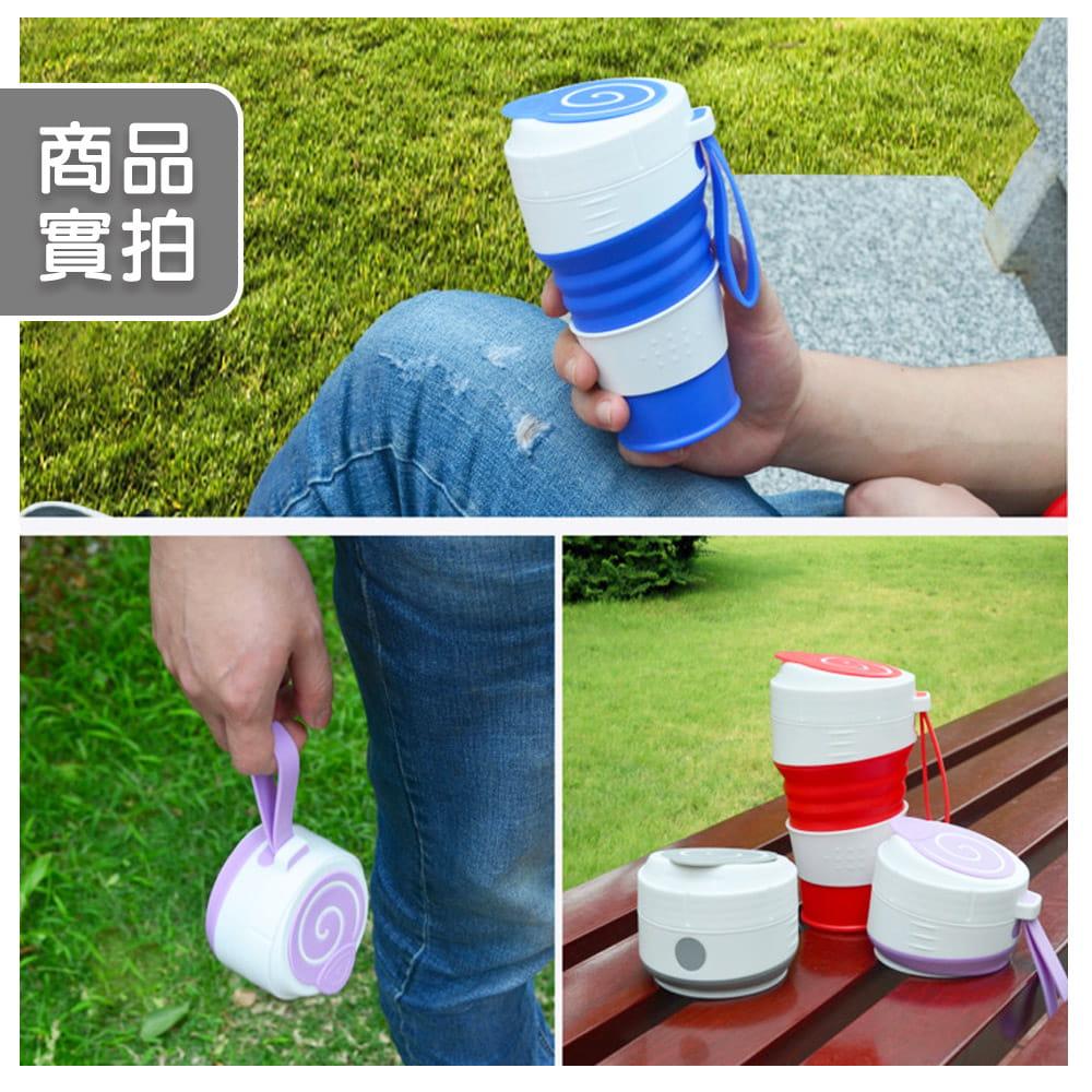 便攜矽膠吸管折疊杯 5