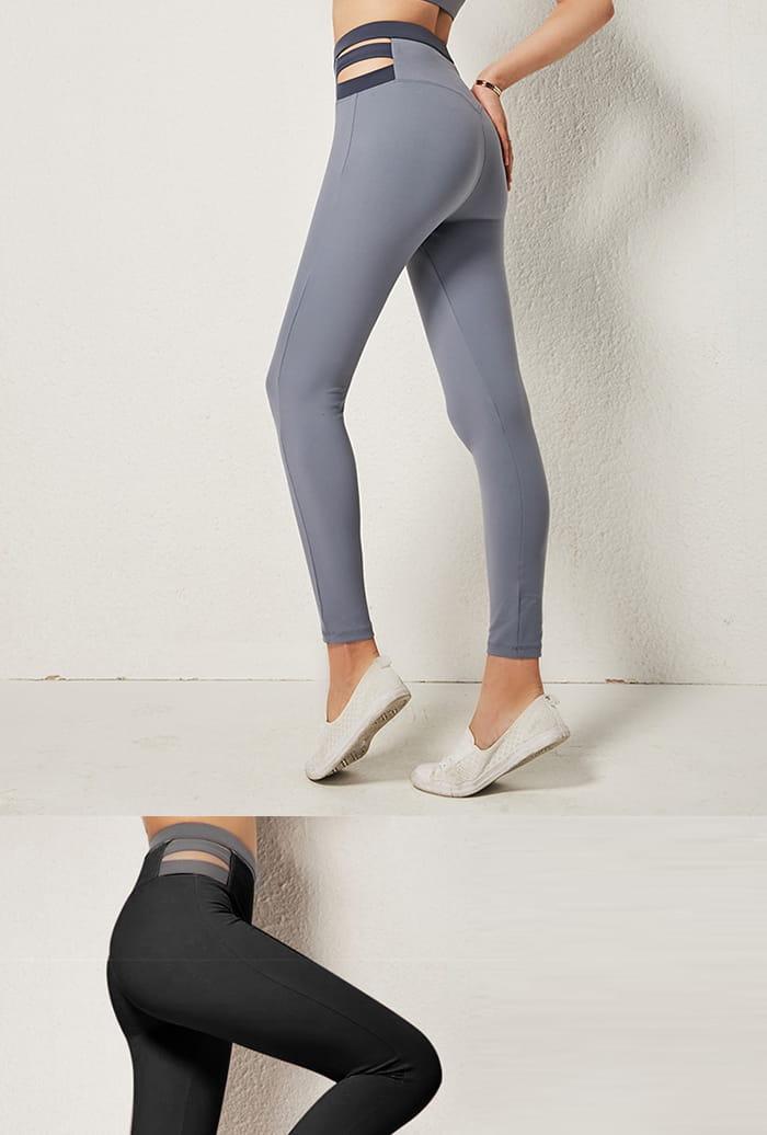 小臀超彈力高腰修身瑜珈褲-2色 10