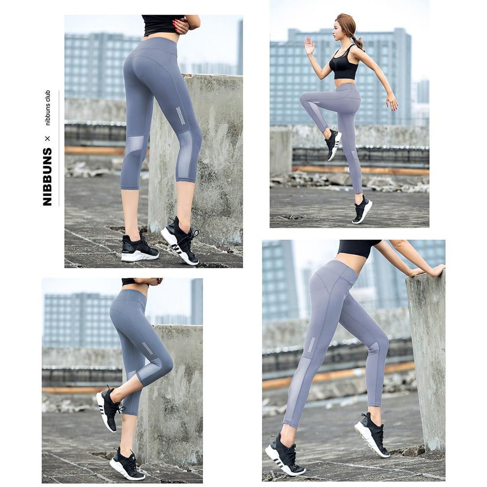 【JAR嚴選】高腰提臀瑜珈健身速乾透氣緊身彈力運動七分褲 9