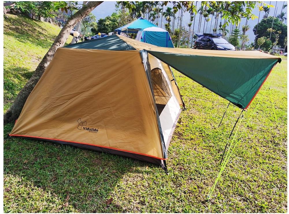 駝綠色自動速開家庭3-4人帳篷 防暴雨抗紫外線沙灘釣魚帳篷 6