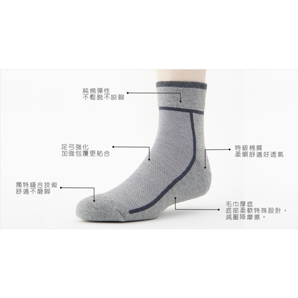 【老船長】(B1-144)T字線毛巾氣墊加大運動襪 6