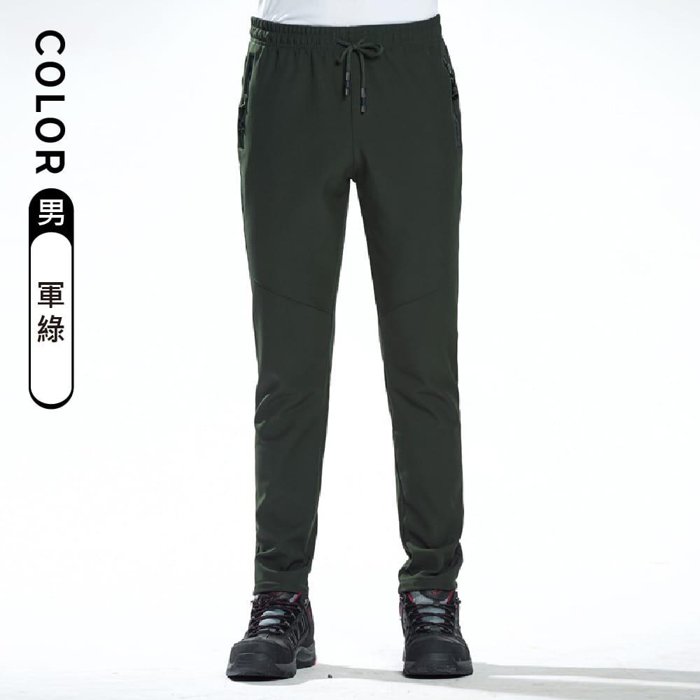 【NEW FORCE】保暖彈力抗刮抗皺衝鋒褲-男女款 10