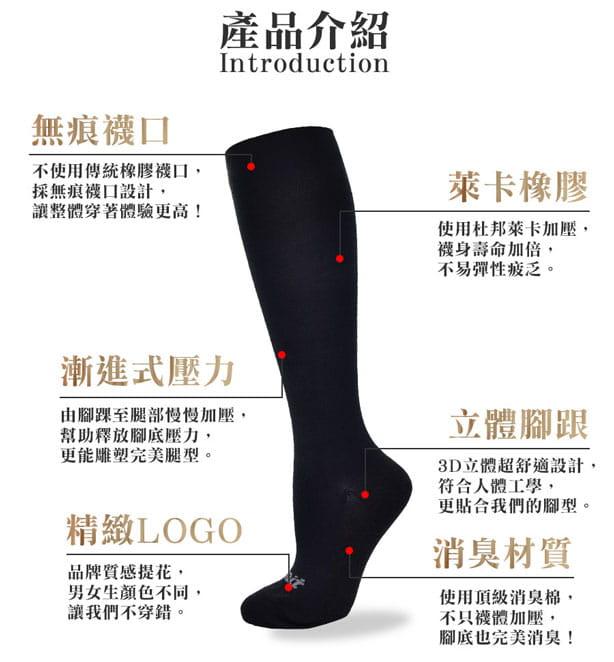 【力美特機能襪】彈力機能壓力襪(黑) 5