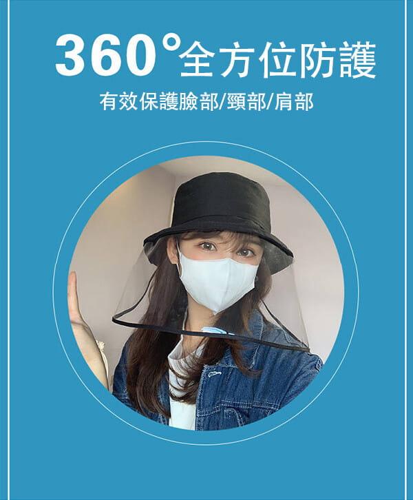 【台灣現貨】防護帽 防飛沫帽 透明面罩  飛沫阻擋 防護面罩  隔離唾沫 防疫用品 10