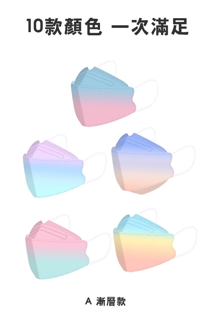 【英才星】KF94四層立體霓彩綜合款口罩(50片/組) 8