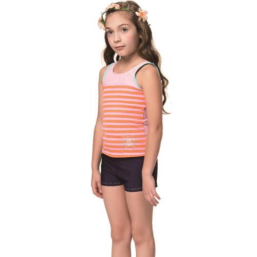 泡湯 SPA女童兩截式泳裝附泳帽B82818