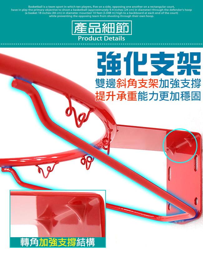 標準18吋金屬籃球框(含籃網)(標準籃框架/耐用籃筐架子) 4