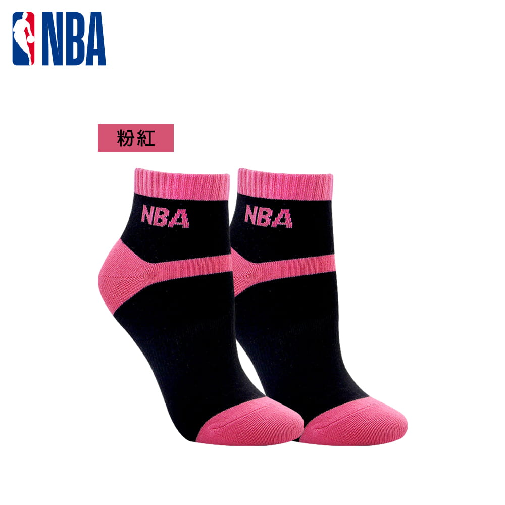 【NBA】 女款百搭平板緹花短襪 4