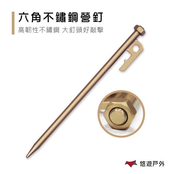 【買10再送1】六角不鏽鋼營釘 20cm 25cm 30cm