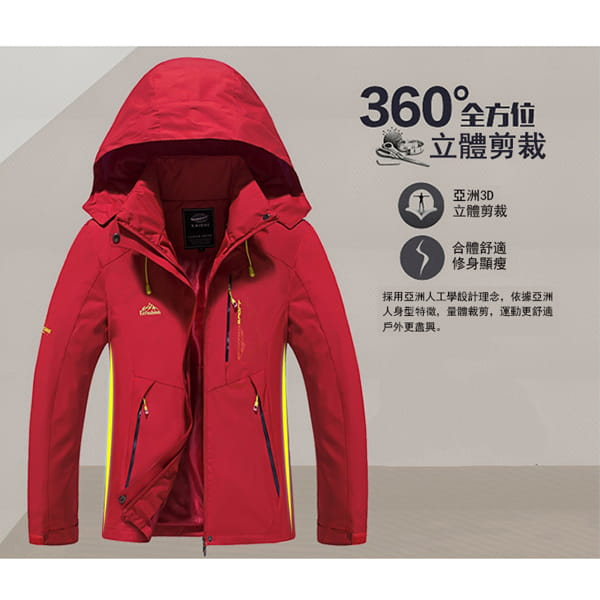 男女戶外機能防風防水衝鋒外套 4