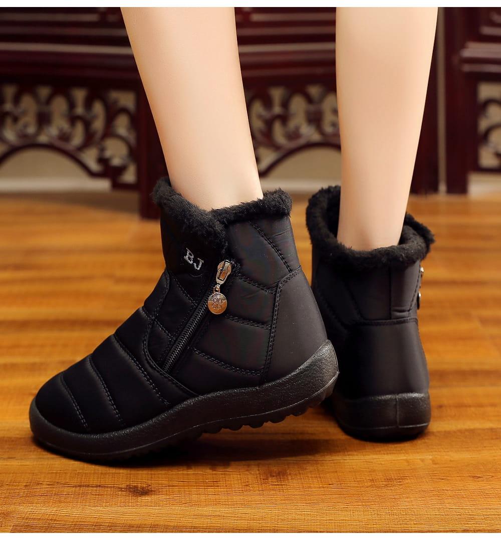防水保暖防滑厚毛絨雪靴(36-42碼/3色可選) 9