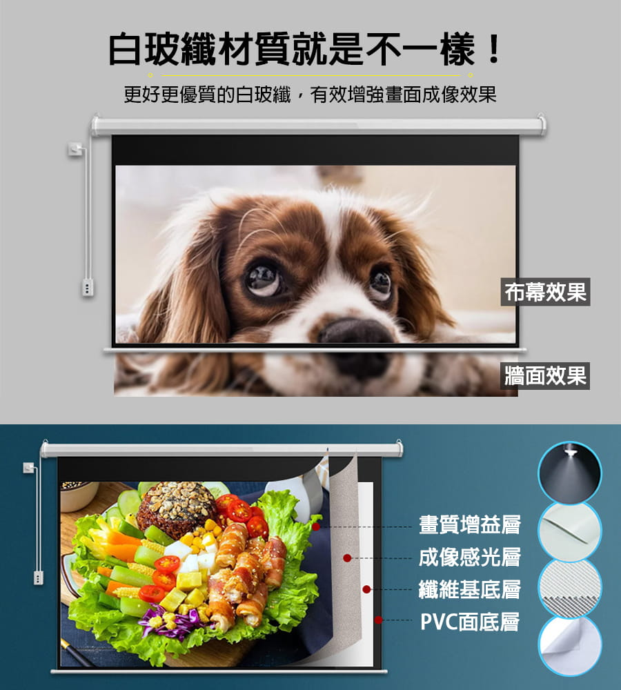 【Leisure】遙控款 『100吋』 電動升降布幕 4K超顯影 簡單安裝 投影布幕 電動布幕 投影機 升降布幕 5